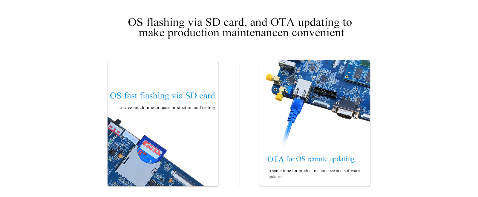 development board can support ota