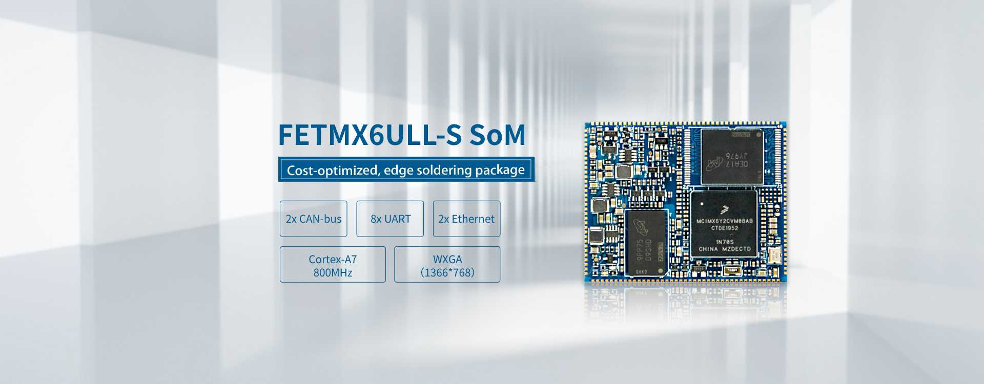 NXP Cortex-A7 iMX6ULL SoC based edge mounting SoM system on
